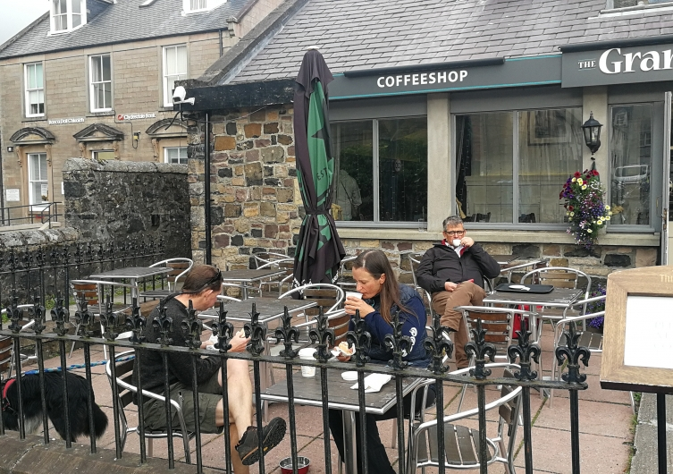 Coffee shop the Granary Restaurants chiens admis ok chien Portree